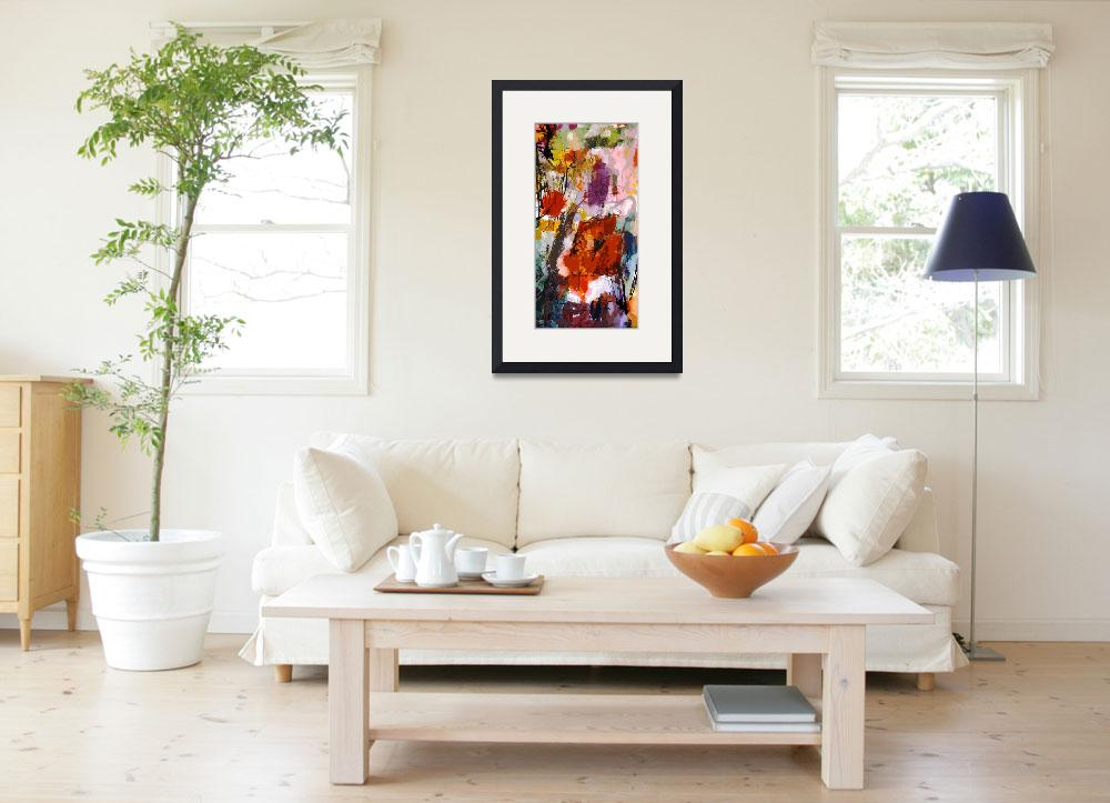 """""""Abstract Poppies Tall Decorative Modern Art&quot  (2014) by GinetteCallaway"""