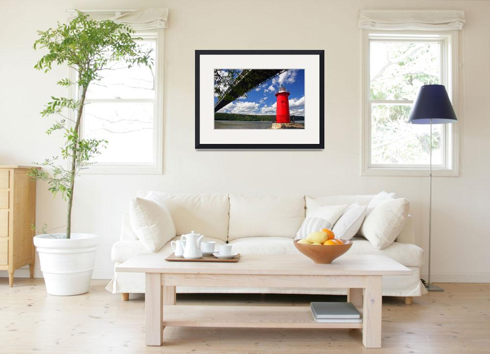 """""""Jeffreys Hook """"Little Red Lighthouse,"""" New York Ci&quot  (2008) by nelights"""