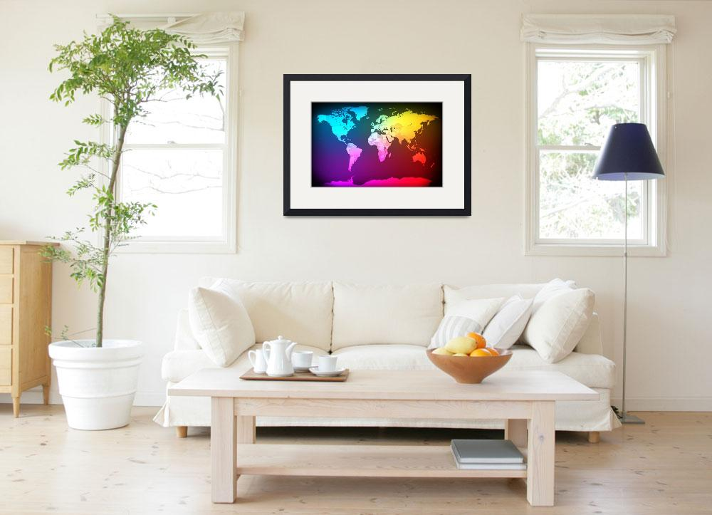 """""""Abstract Map of the World&quot  (2012) by ModernArtPrints"""