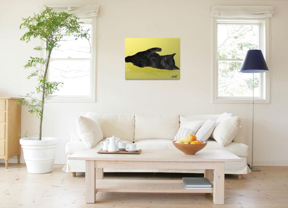 """Black kitten&quot  (2008) by Sari-Art"