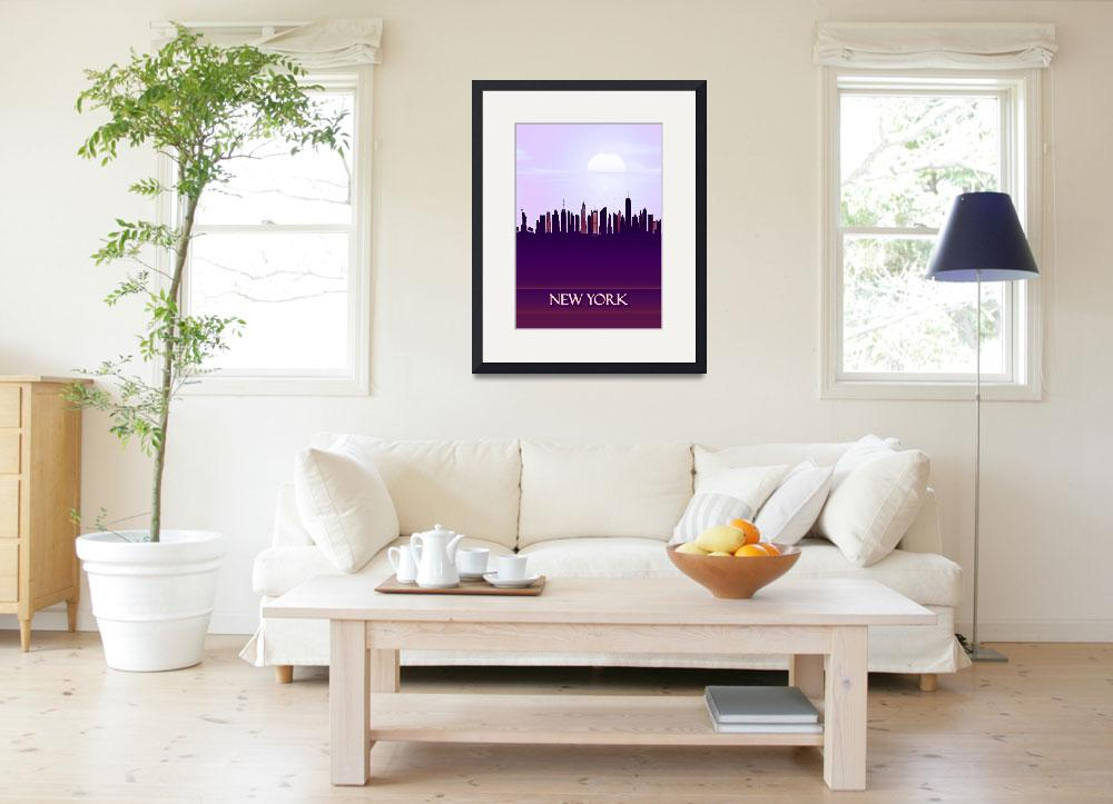"""""""New York City Skyline""""  by Towseef"""