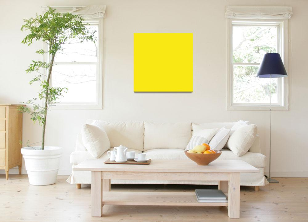 """""""Square PMS-102 HEX-F9E814 Yellow&quot  (2010) by Ricardos"""