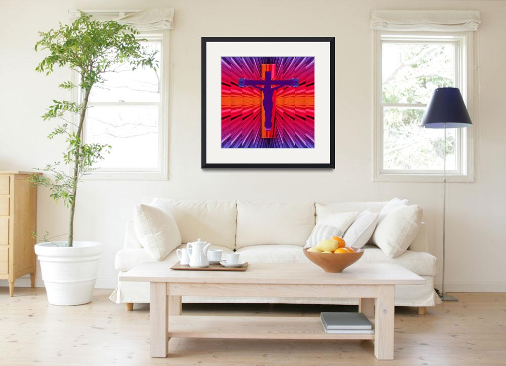 """""""Jesus on the Cross&quot  (2015) by MarilynsArt"""