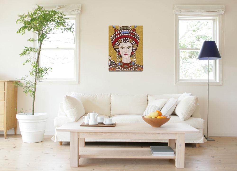"""""Empress Theodora""  fabric mosaic""  (2012) by RemnantWorks"