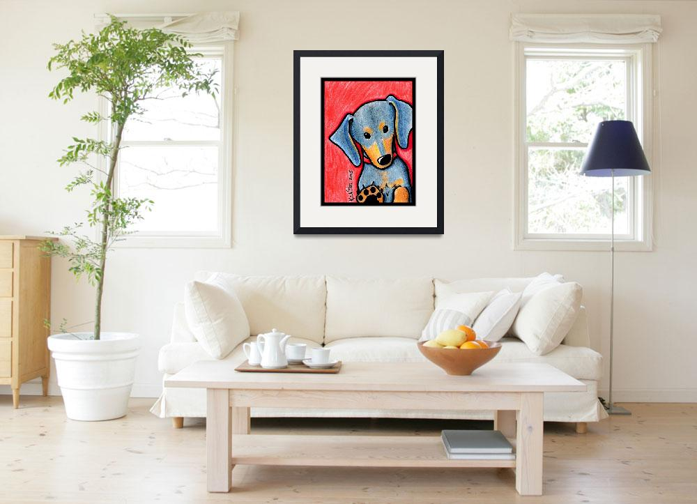 """""""Doxie Diva&quot  (2005) by KiniArt"""