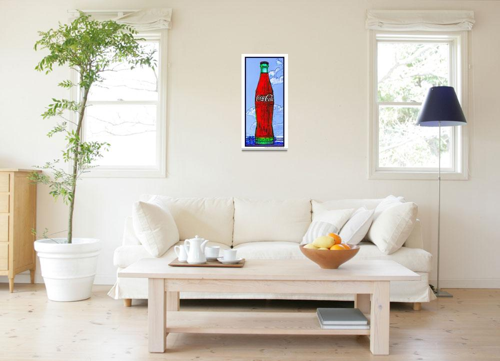 """""""Coca-Cola Bottle in the Sky, White Border&quot  (2009) by Automotography"""