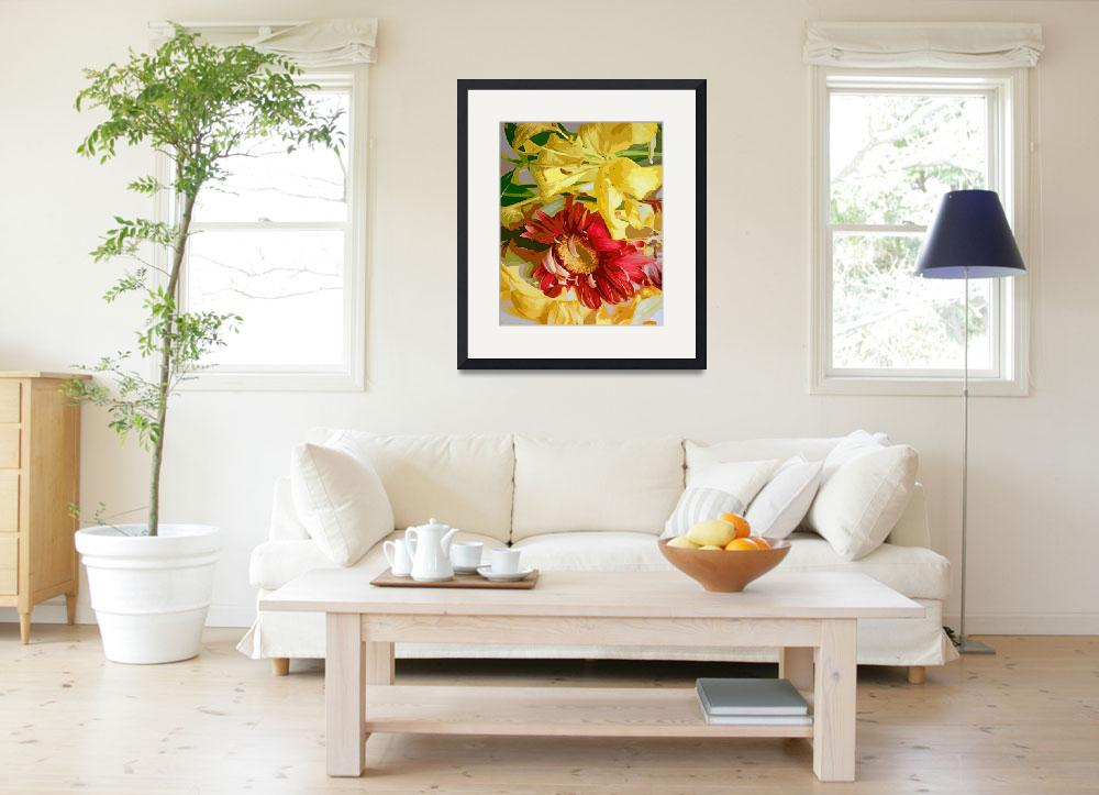 """""""Wilted Flowers - Watercolor&quot  (2013) by RussMartinPhotography"""