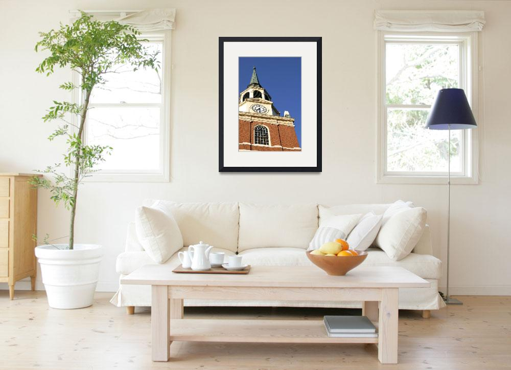 """""""Wait Chapel, Close Up, Wake Forest University&quot  by fineartphoto"""