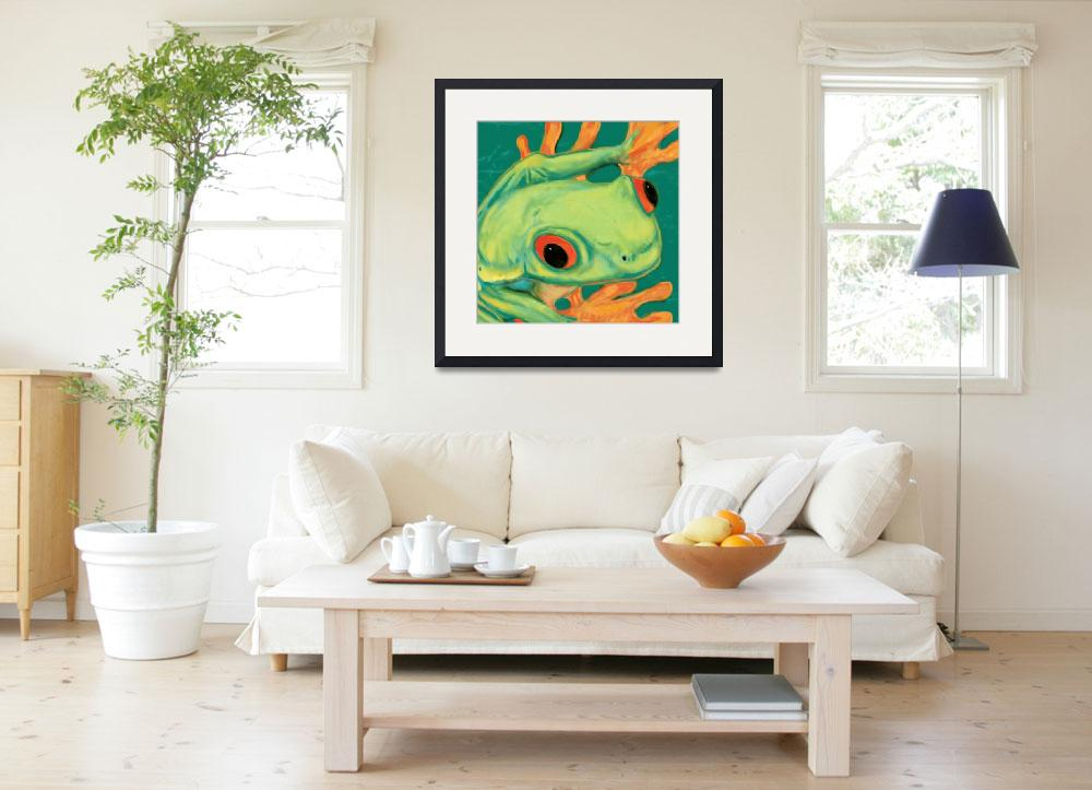 """frog Stylised Pop Art Drawing Potrait Poster""  (2013) by visualharbour"