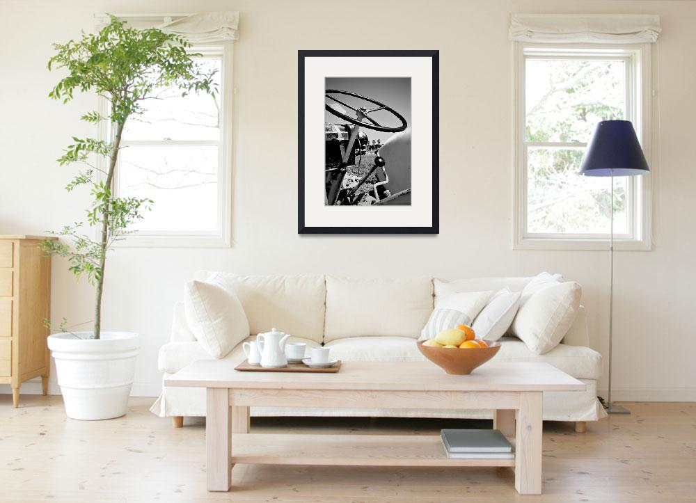 """""""SoCal Tractor/ Black and White&quot  (2010) by MelanieDoty"""