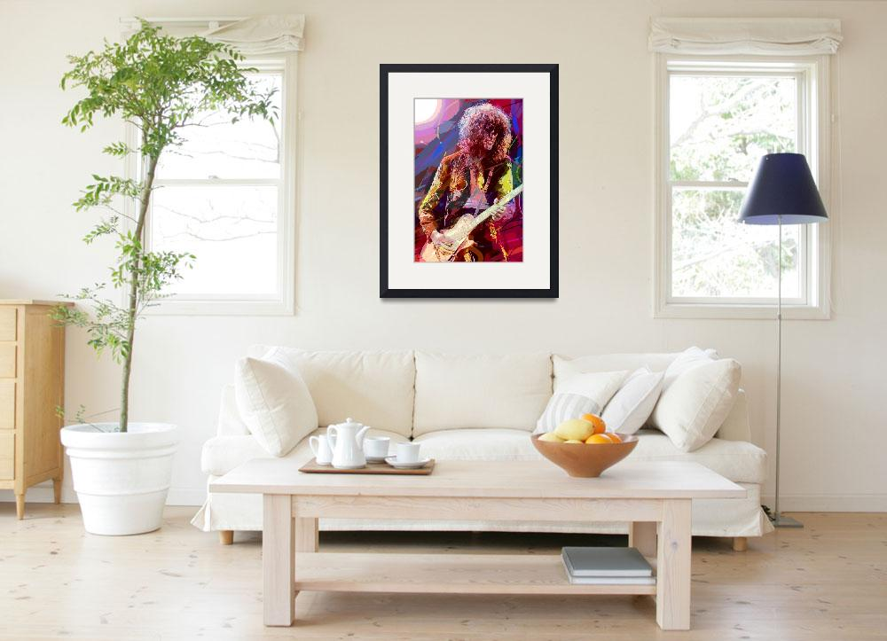 """""""Jimmy Page Les Paul Gibson&quot  (2010) by DavidLloydGlover"""