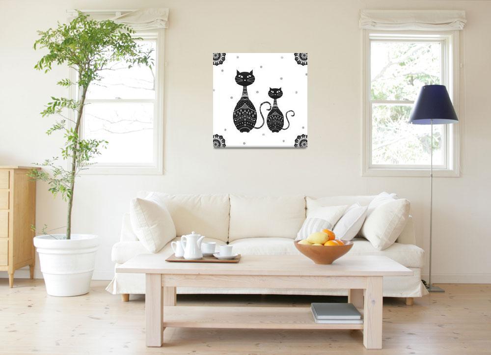 """Black Cats Illustration""  (2015) by CristinaBianco"
