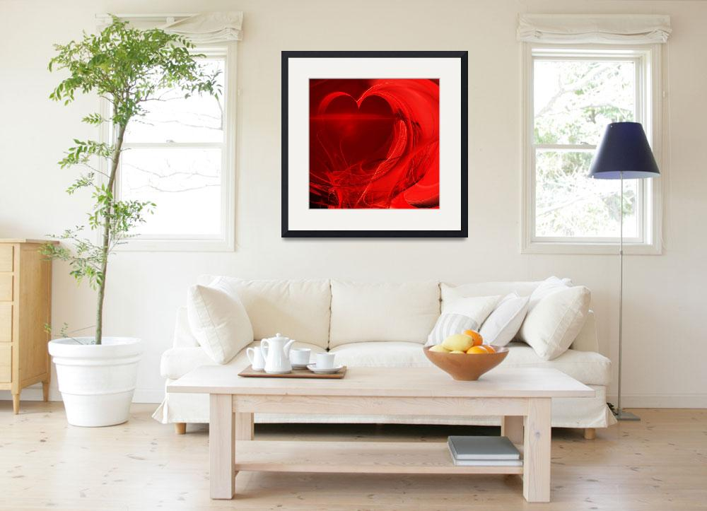 """Red Love . Square . A120423.279""  by wingsdomain"