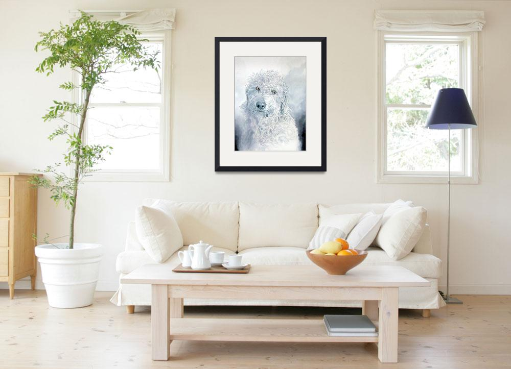 """""""Ginger the Labradoodle&quot  (2008) by mozache"""