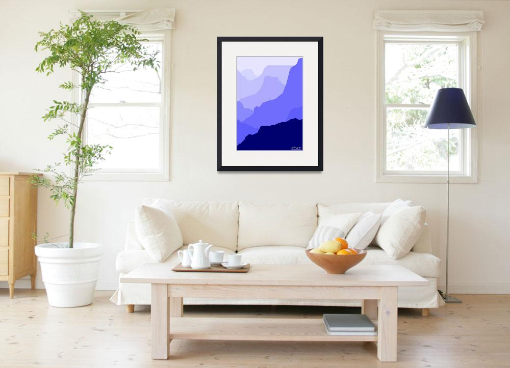 """Grand Canyon - blue - Art Gallery Selection&quot  by Lonvig"