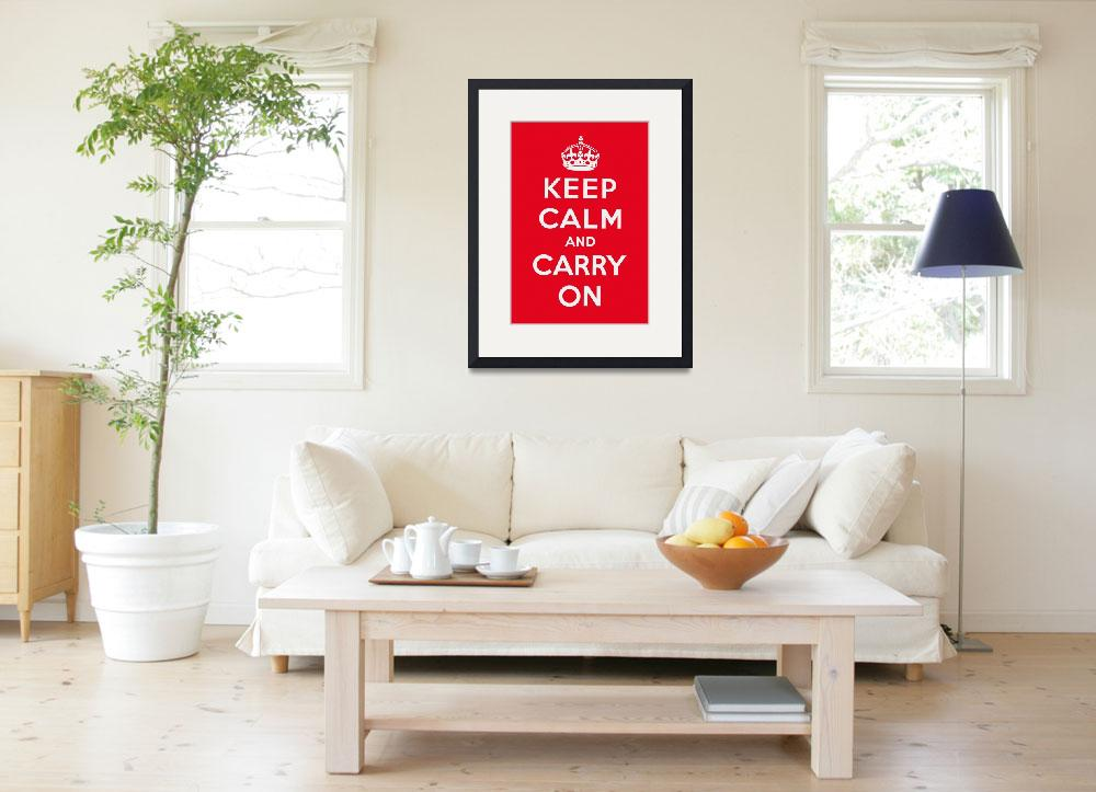 """""""Red Keep Calm And Carry On 3""""  by oldies"""
