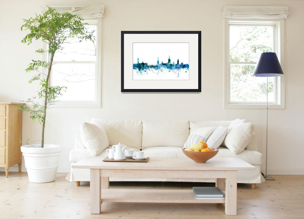 """Stockholm Sweden Skyline&quot  (2018) by ModernArtPrints"