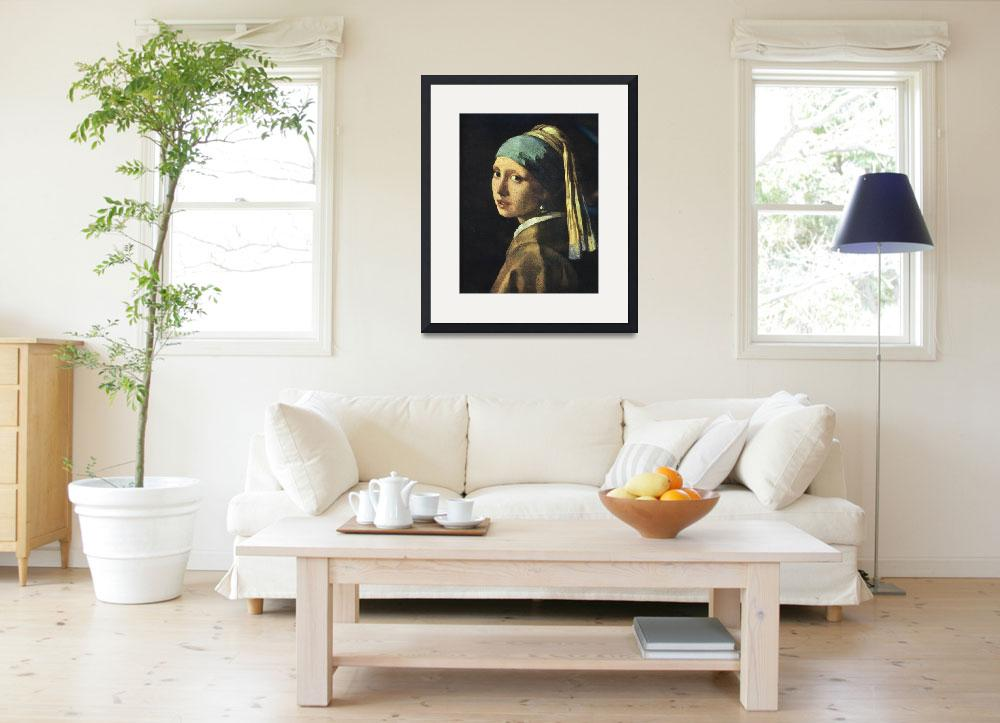 """""""Girl with a Pearl Earring&quot  (2008) by birthdaygifts"""