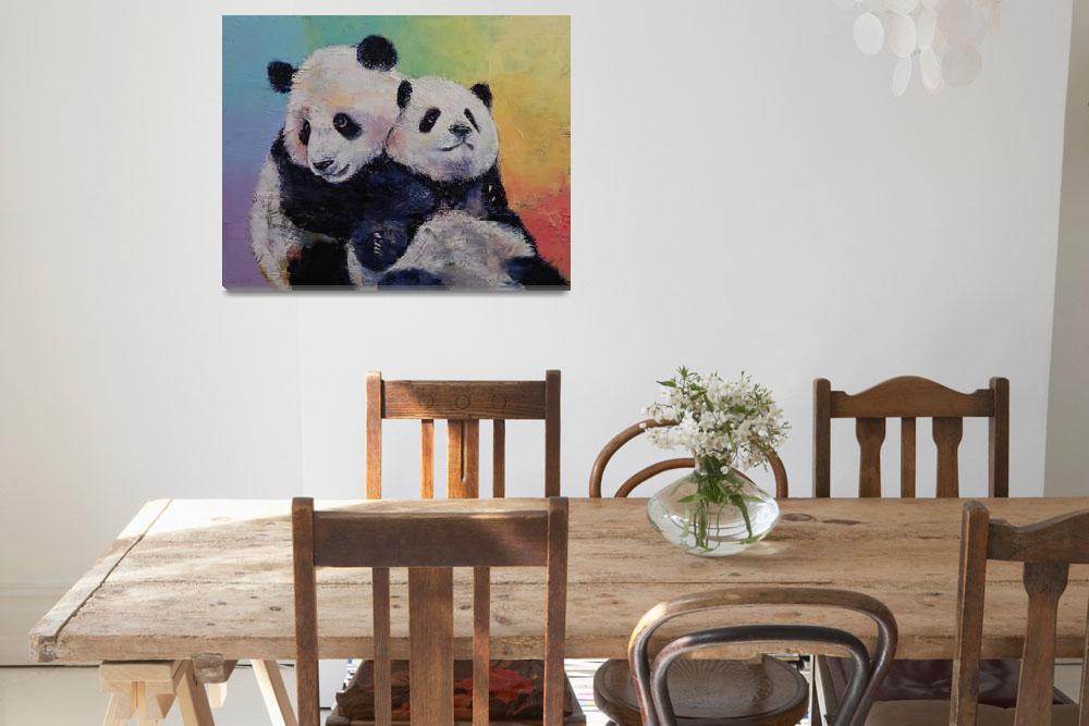 """""""Panda Hugs&quot  by creese"""
