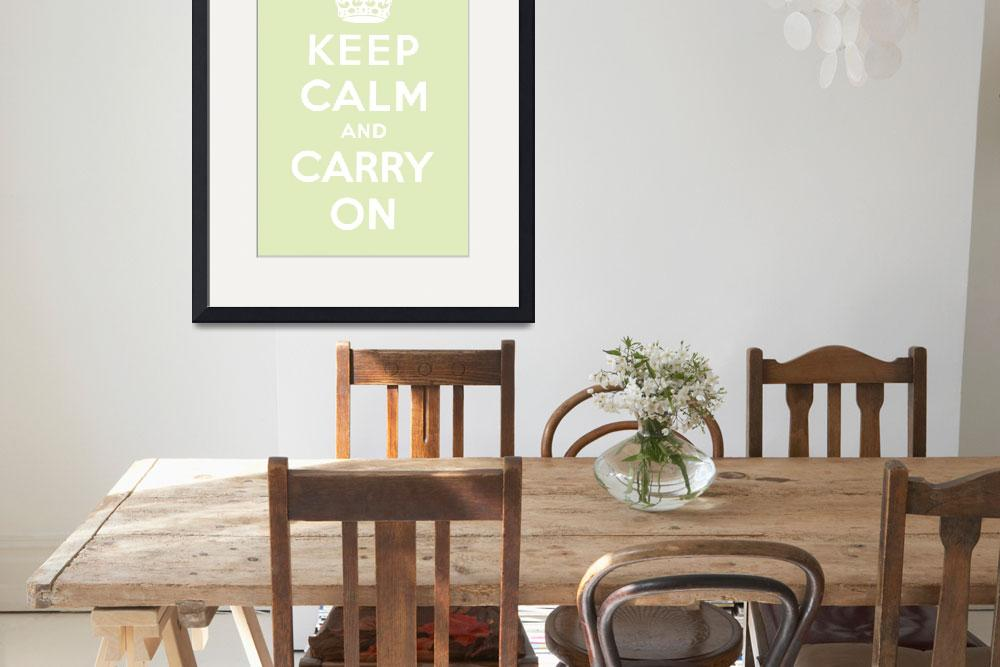 """""""Green Keep Calm And Carry On 7&quot  by oldies"""