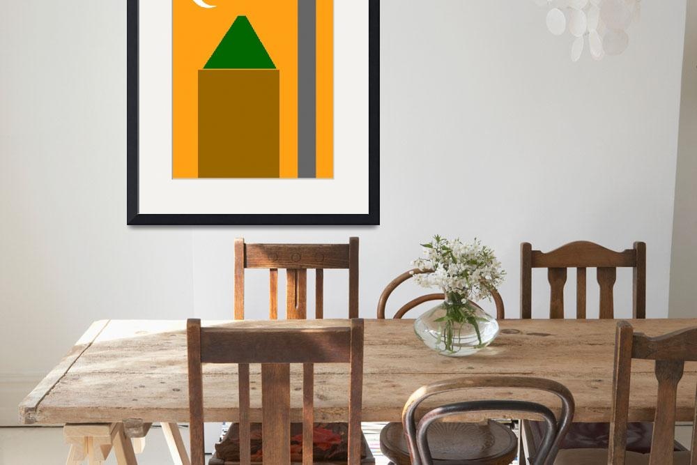"""""""Abstract Poster - The Mosque Minaret and Crescent&quot  by motionage"""