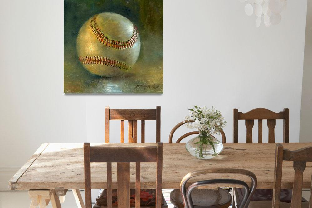 """BASEBALL #8 -- BARRY BONDS TRIBUTE""  by hallgroat"