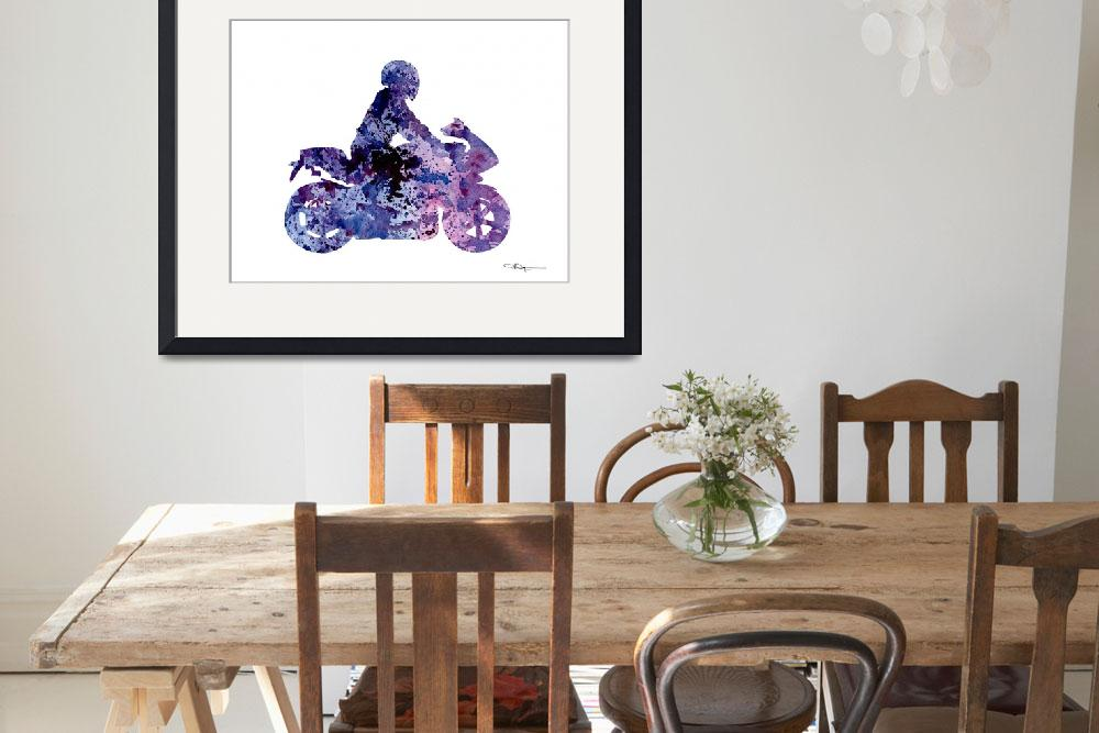 """""""Motorcycle&quot  (2016) by k9artgallery"""