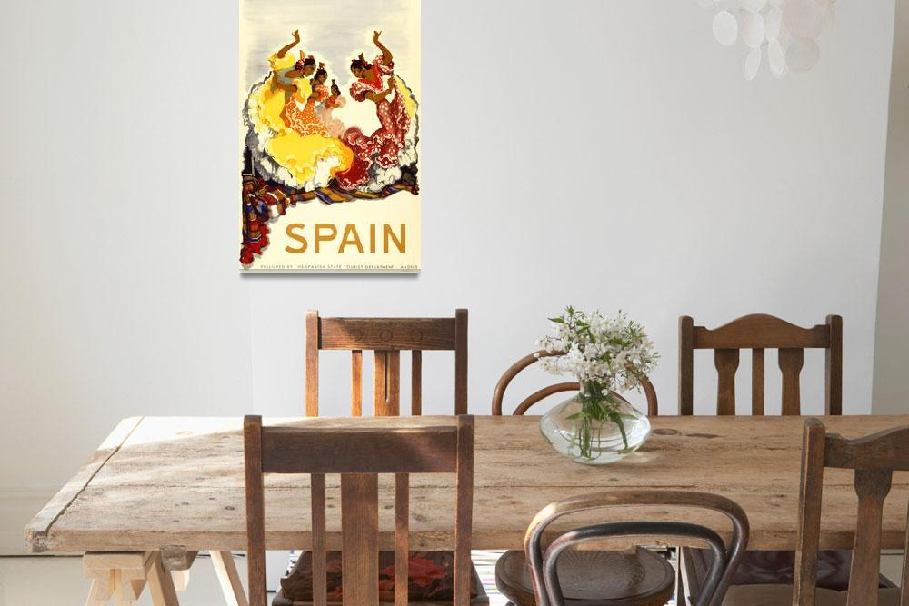 """Madrid, Spain Vintage Travel Poster""  by FineArtClassics"