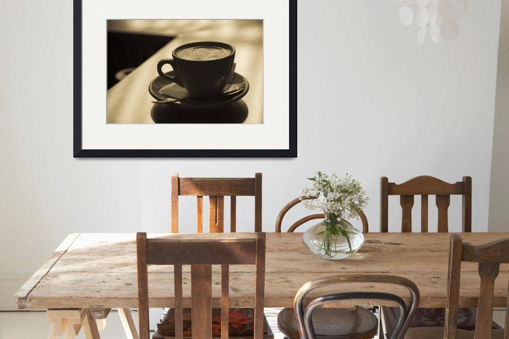 """""""Close up of a cup of cappuccino&quot  by Panoramic_Images"""