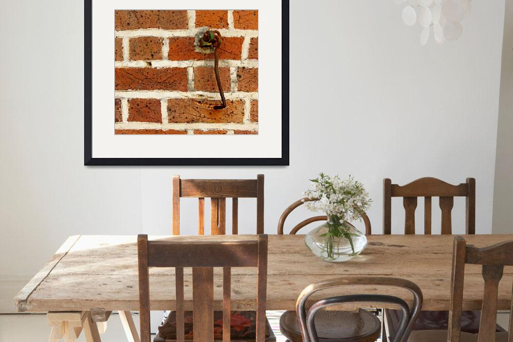 """""""Latch Hook on Brick Wall&quot  (2012) by swazoo"""