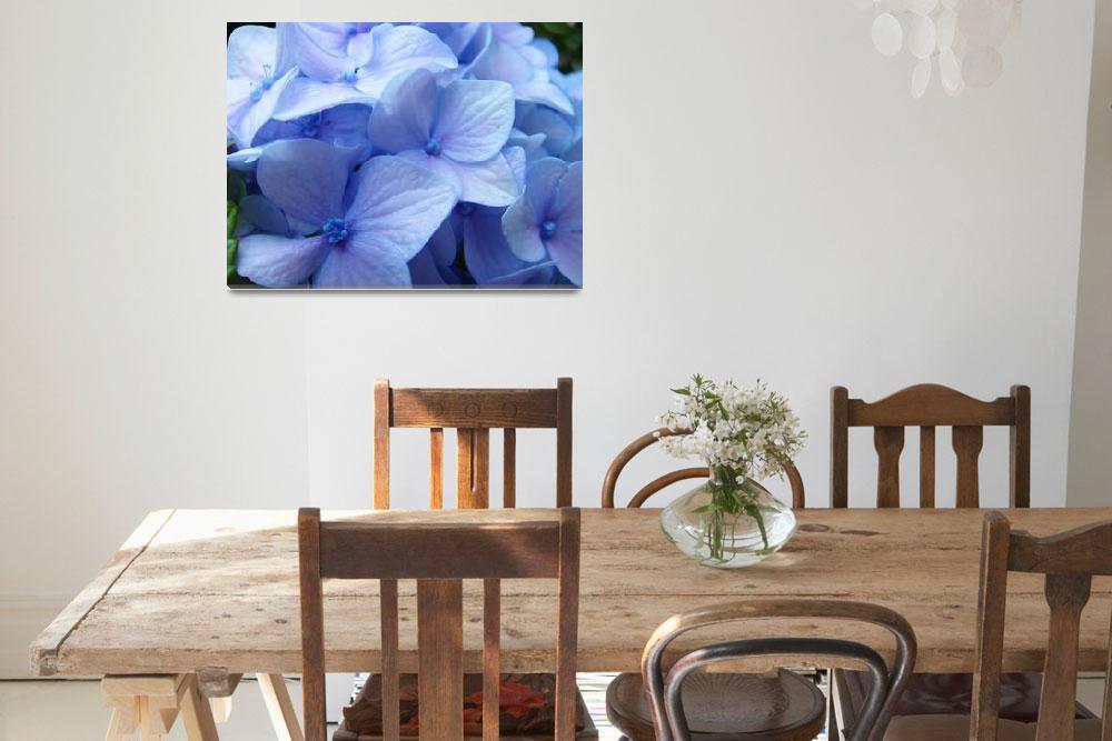 """Blue Hydrangea Flower art prints Nature Colorful""  (2010) by BasleeTroutman"
