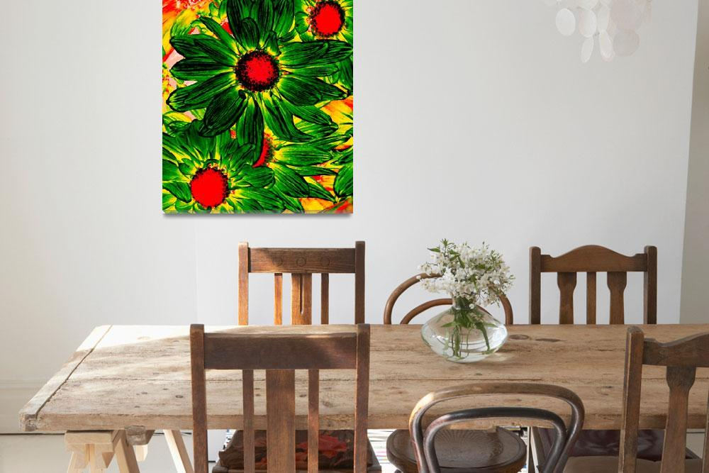 """""""Pop Daisies 16&quot  (2012) by AmyVangsgard"""