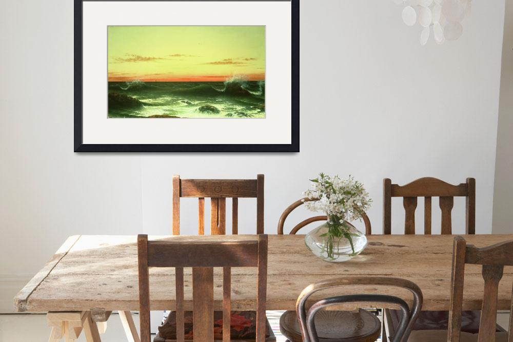 """""""Seascape: Sunset, 1861""""  by fineartmasters"""