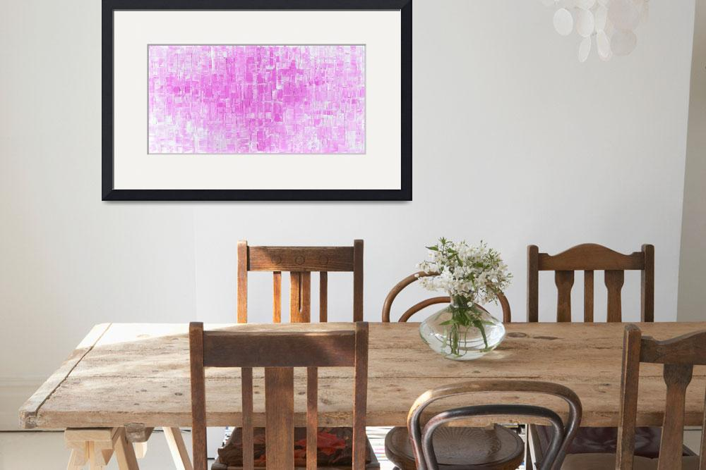 """Pink Abstract Art""  (2015) by modernhouseart"