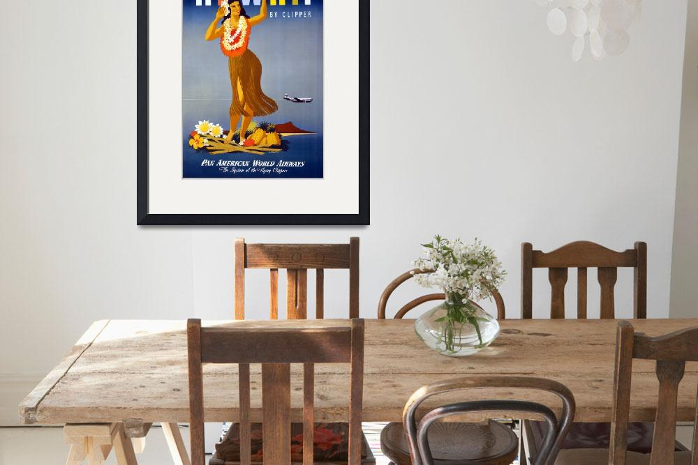 """""""Hawaii By Clipper Pan Am Travel Poster&quot  by dalidayna"""