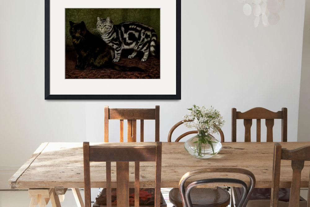 """""""Vintage Short-Haired Cats Painting (1903)""""  by Alleycatshirts"""