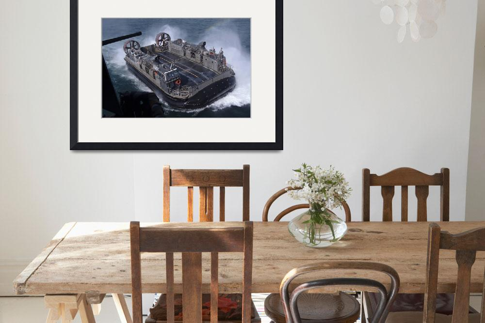 """""""Landing Craft Air Cushion hovercraft&quot  by stocktrekimages"""