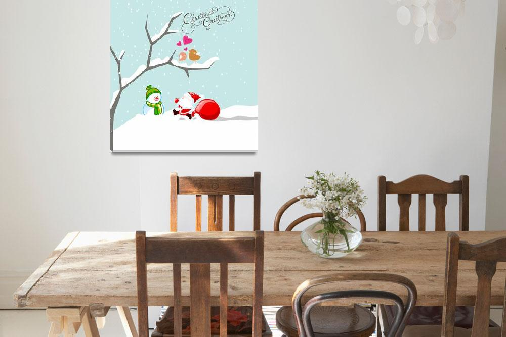 """""""two cute birds in ove at winter time&quot  by ngocdai86"""