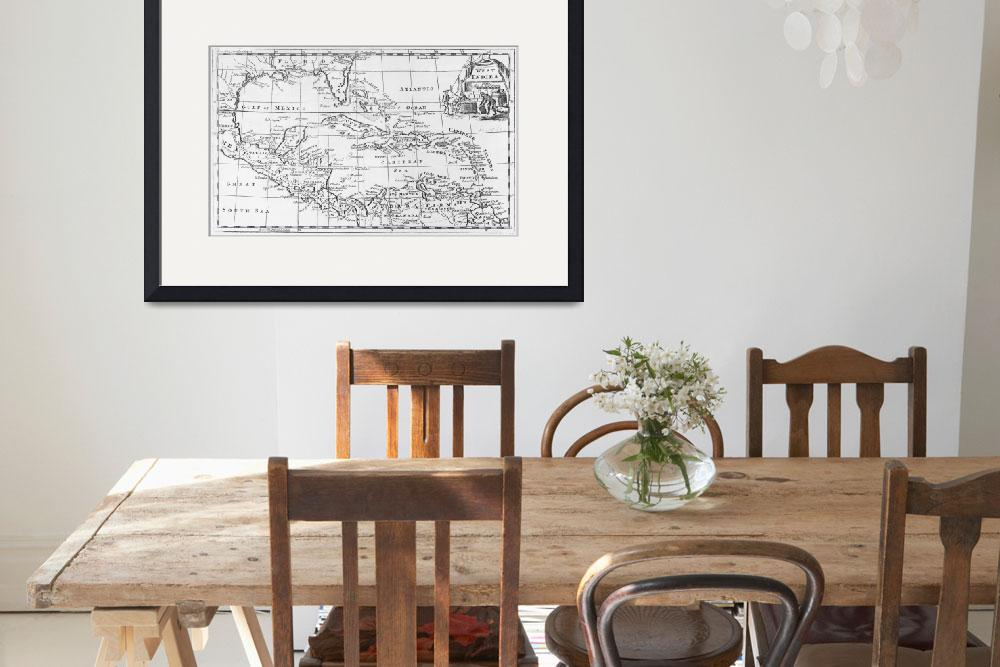 """""""Map of the West Indies""""  by fineartmasters"""