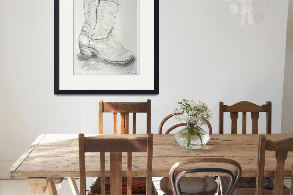 """""""Boot Drawing""""  (2012) by KrisCourtney"""