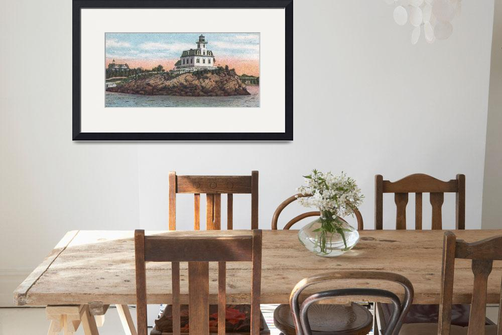"""Pomham Rocks Lighthouse""  by Alleycatshirts"