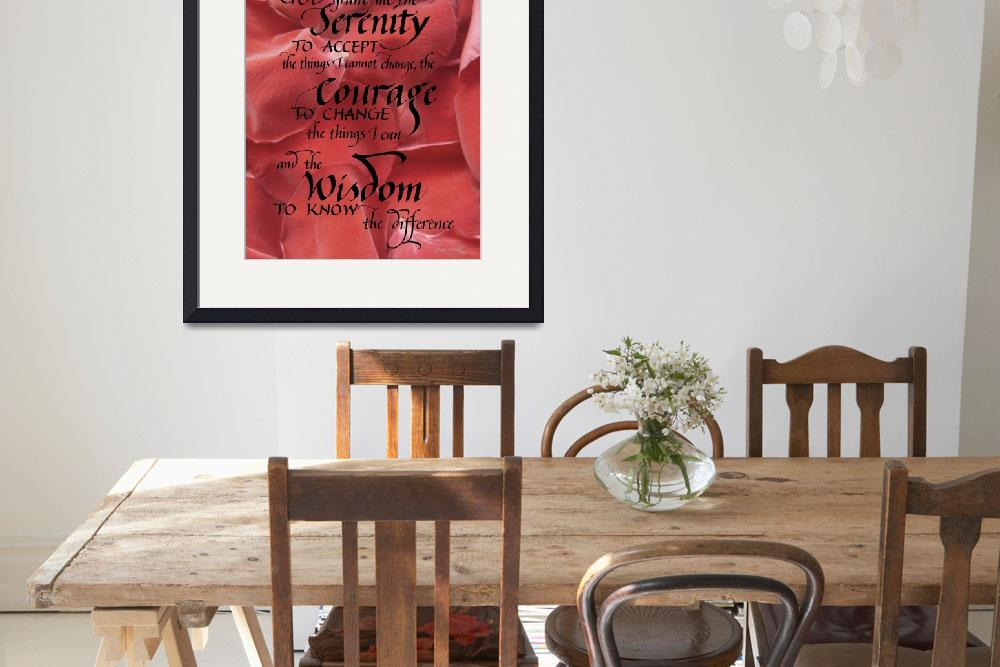 """Serenity Prayer - Contemporary&quot  (2012) by BeautifulCalligraphy"