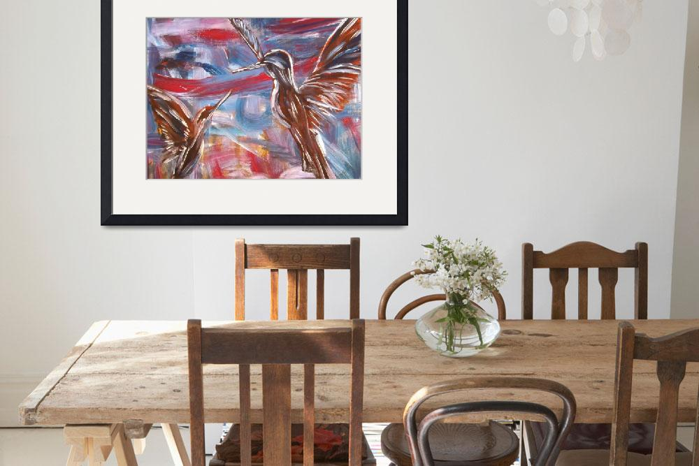"""""""Hummingbirds&quot  (2013) by gallerymay"""