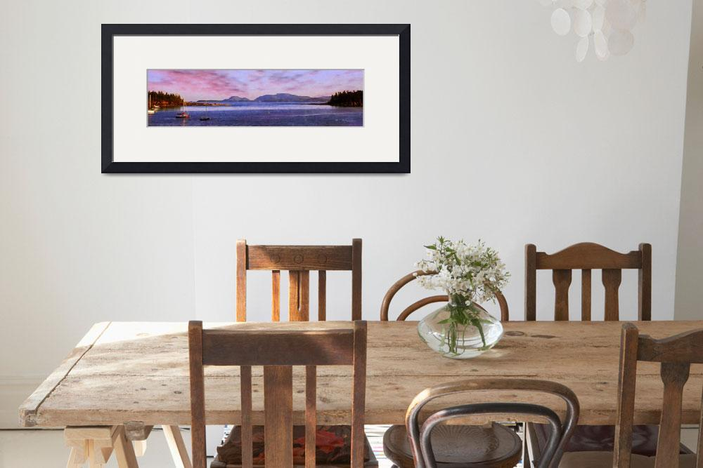 """""""View of Acadia National Park from Sorrento&quot  (2010) by sacorivergraphics"""