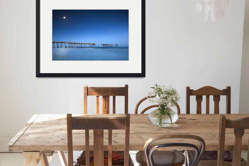 """Frisco Pier Cape Hatteras Outer Banks NC - Crossin&quot  (2012) by DAPhoto"