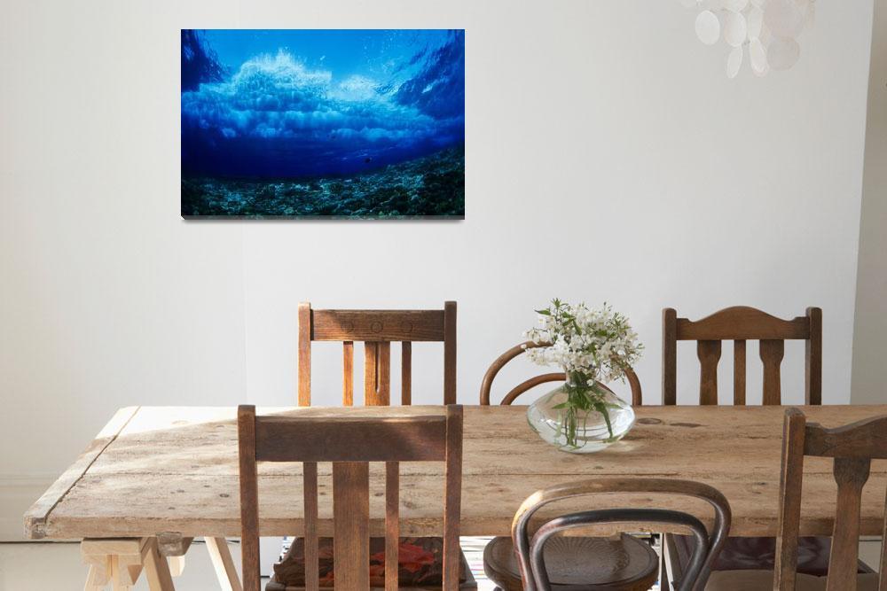 """""""Hawaii, Underwater View Of Wave Breaking Over Cora&quot  by DesignPics"""