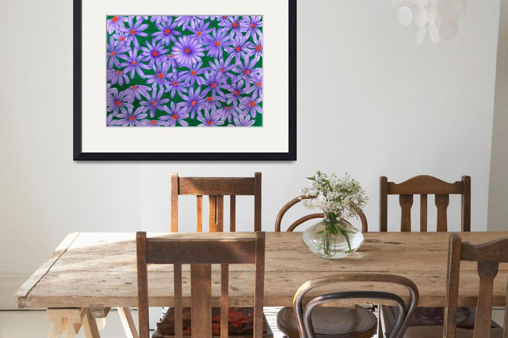 """Purple Daisies&quot  (2010) by sharonblanchard"