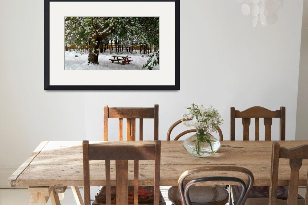 """""""Park in winter with snow&quot  (2013) by lanjee"""