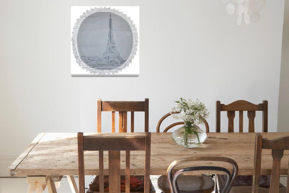 """""""Eiffel Tower Doily""""  (2014) by Kwayne"""