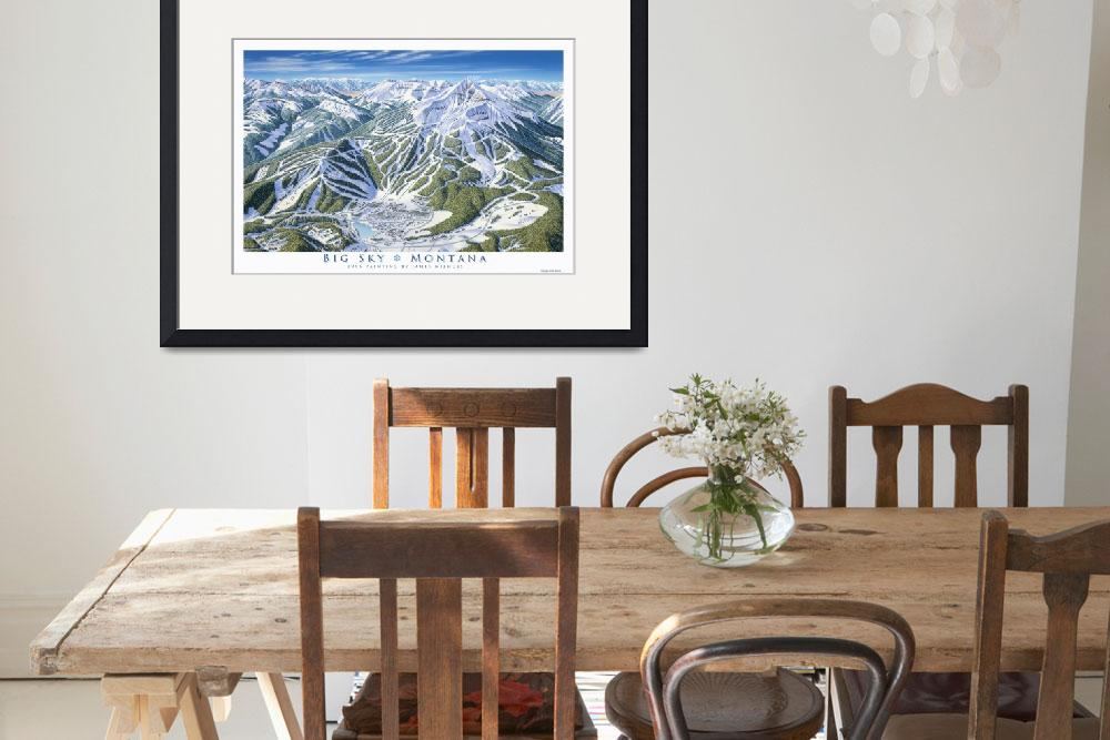 """Big Sky 1995 Trail Map Art Print&quot  (1995) by jamesniehuesmaps"